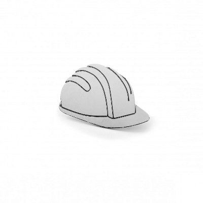 Builders Helmet Metal Pin Badge